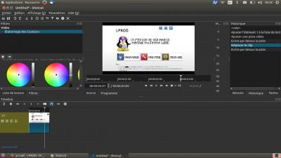Shotcut sous GNU/linux Ubuntu 16.04 LTS